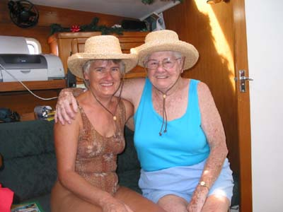 Mom and me with matching hats