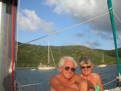 Alice and Jim Rutherford in the Virgin Islands